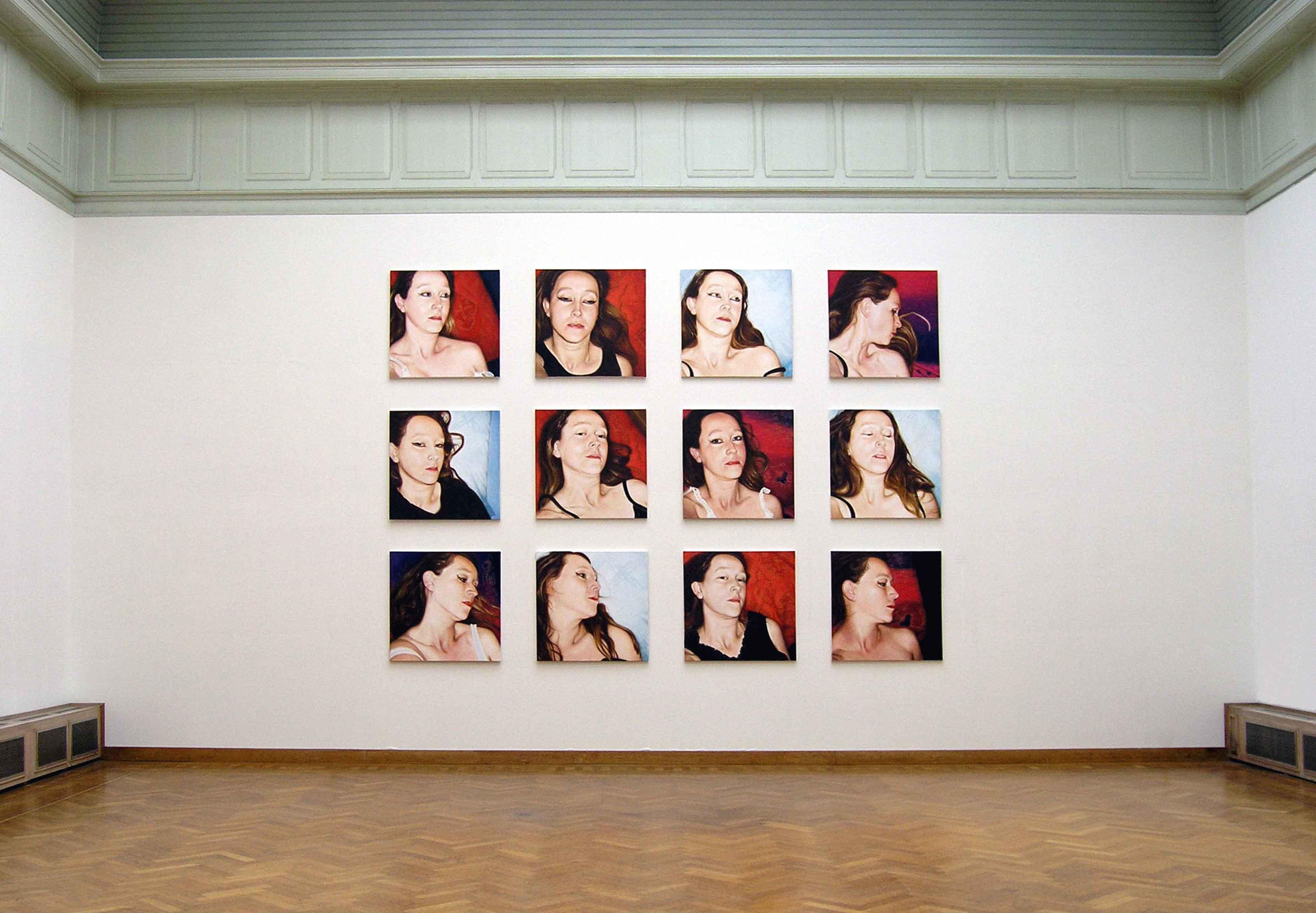 Lique Schoot, Pillow Portraits (3x4)