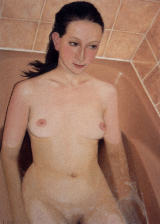 Lique Schoot, Self-portrait in Bath