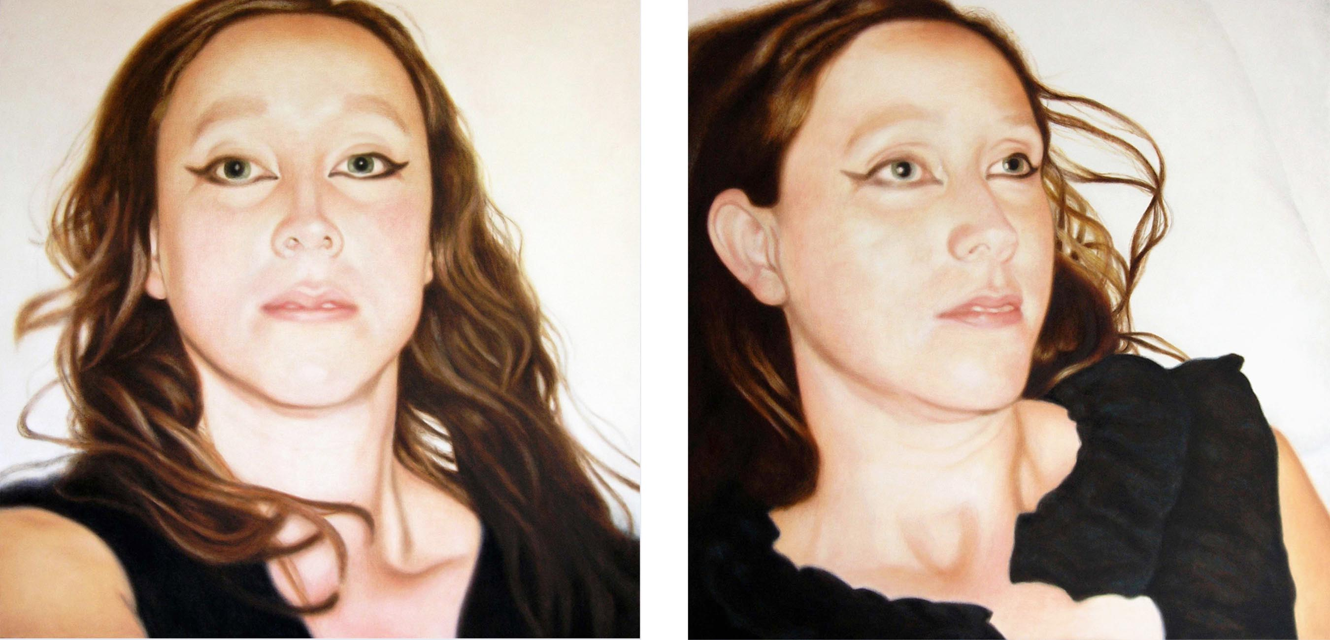 Lique Schoot, Self-portraits 07 08 15 and 07 08 12