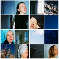 Lique Schoot, 16 Days in Blue - 2019 - Prints on alu-Dibond - 139 x 139 cm I 54.7 x 54.7 in